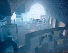Sweden's Ice Hotel, situated in Jukkasjarvi, is built from scratch every year