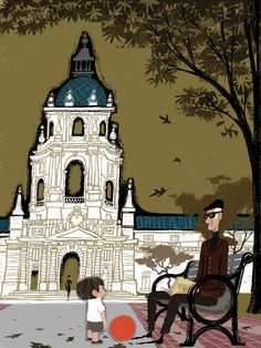 """""""CITY HALL"""" by Chris Reccardi (Limited Edition Giclee print 100, 2011)"""