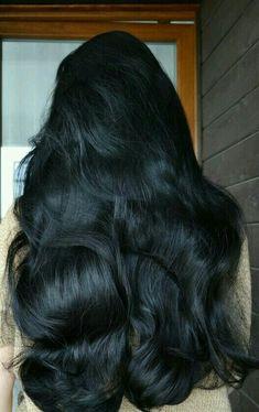 Beautiful Long Hair, Gorgeous Hair, Love Hair, Big Hair, Shiny Hair, Dark Hair, Medium Hair Styles, Long Hair Styles, Goddess Hairstyles