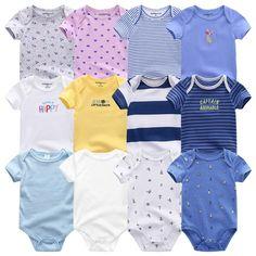 7dd5f59cb Clothing Sets Uniesx Newborn Baby Rompers Clothing 7Pcs/Lot Infant  Jumpsuits 100%Cotton Children