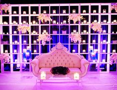 Ideas wedding backdrop reception head table events for 2019 Purple Wedding Tables, Unique Wedding Centerpieces, Indian Wedding Decorations, Indian Decoration, Stage Decorations, Decor Wedding, Diy Wedding, Wedding Reception Planning, Wedding Reception Backdrop