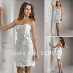 JW0152 Strapless lace appliqued unique short wedding dresses 5033,91 - 5402,45 руб.