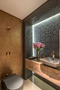 Dsc design: badezimmer von andréa buratto architecture & decoration - Noora A. Beautiful Bathrooms, Modern Bathroom, Small Bathroom, Bathroom Ideas, Half Bathrooms, Bathroom Layout, Bathroom Designs, Bathroom Interior Design, Interior Decorating