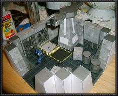 Warhammer 40k - Space Hulk 3D Terrain Free Paper Model Download…