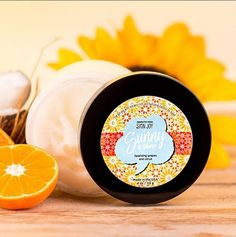 Get a sunny disposition from head to toe. Scented with sparkling grapes and citrus, this super moisturizing, nutrient-rich coconut oil is infused with rosemary and is sublimely hydrating for both skin and hair. Scoop a moderate amount onto palm and spread over skin. May also be used sparingly in hair to smooth fly-aways, promote healthy growth, and increase shine. Use daily to make each day sunny.  Fragrance: Sparkling grapes and citrus