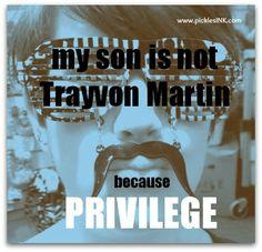 Ben is not Trayvon Martin.