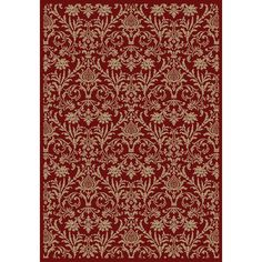 108$ Concord Global Valencia Red Rectangular Indoor Woven Oriental Area Rug (Common: 5 x 8; Actual: 5.25-ft W x 7.58-ft L x 5.25-ft Dia)
