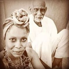 Songwriter Erykah Badu and Dr. Sebi