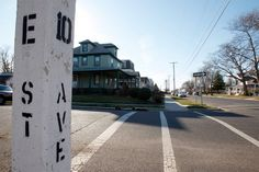 """This falls under places I want to go...In Belmar,NJ...The historic intersection that was the inspiration for the name E-Street Band as well as the infamous song from BTR """"Tenth Avenue Freeze-Out""""..."""