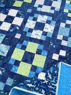 Park Quilt Pattern by A Bit of Scrap Stuff Blog | Fabric: Riptide by Citrus & Mint Designs for Riley Blake Designs #ABitofScrapStuff #ParkQuilt Riley Blake, Surfs Up, Quilt Patterns, Scrap, Quilts, Blanket, Park, Sewing, Fabric