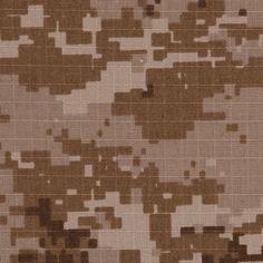 Desert stalker camo ripstop 100%cotton