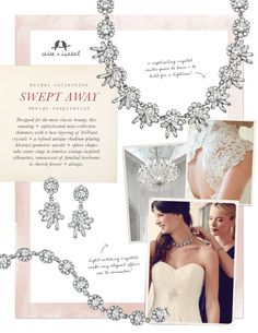 Swept Away Inspiration from our bridal collection! Shop for it in my boutique:https://www.chloeandisabel.com/boutique/michelleweaver
