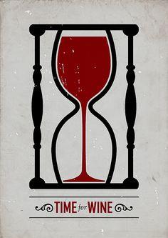 """""""Time For Wine"""" poster design by Swedish graphic designer Viktor Hertz Wine Time, Graphisches Design, Logo Design, Wine Design, Clever Design, Smart Design, Art Du Vin, Vides, Wine Art"""