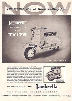 Manufacturer Lambretta Detail TV175 ndash Original Advert Size A4 Colour B W…