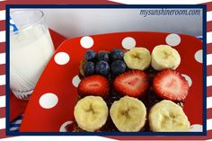 4th of July American Flag Breakfast Toast