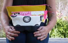 noodlehead: open wide zippered pouch tutorial size chart - my fave for washbag and make up bags
