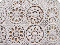 cream Cotton Lace Fabric vintage style lace fabric by LaceFun