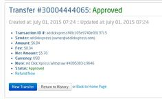 Here is my Withdrawal Proof from AdClickXpress. I get paid daily and I can withdraw daily. Online income is possible with ACX, who is definitely paying - no scam here   http://www.adclickxpress.com/?r=Draganns&p=mx