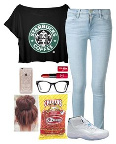 """""""Good morning!!"""" by flawlesssisters ❤ liked on Polyvore featuring beauty, Frame Denim, Spitfire and Rifle Paper Co"""