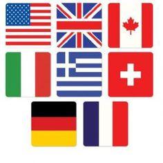 Wholesale Bulk International Flag Coasters