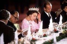 No one can eat after the Queen has finished her meal.