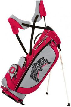 Ohio State NCAA Licensed Three 5 Stand Bag by Sun Mountain Golf. Buy now @ ReadyGolf.com