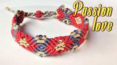 Macrame tutorial the Passion love non-bead bracelet - Hướng dẫn thắt vòn...