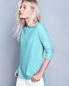 Eileen Fisher Slubbed Organic Linen & Cotton Bateau-Neck Sweater