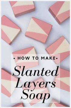 How to make slanted layer soap! Cold process soap made with the slanted layer soap technique, scented with palmarosa and lemon essential oil. Making Bar Soap, Soap Making Recipes, Handmade Soap Recipes, Handmade Soaps, Soap Packing, Cold Process Soap, Soap Making Process, Lavender Soap, Home Made Soap