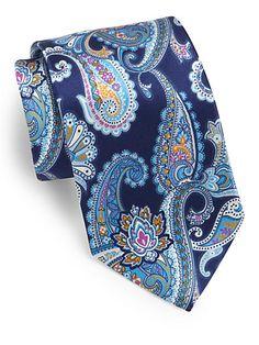 Brioni - Paisley Print Silk Tie - Saks.com