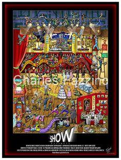 Show Business Documentary Movie Poster by Charles Fazzino. #popart #charlesfazzino