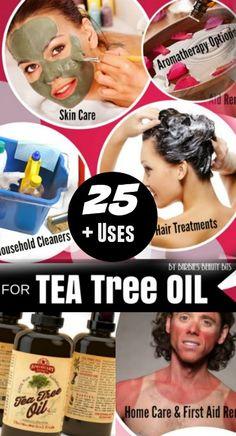 25 Plus Uses For Tea Tree Oil, By Barbie's Beauty Bits. #DIY #DIYBEAUTY #teatreeoil