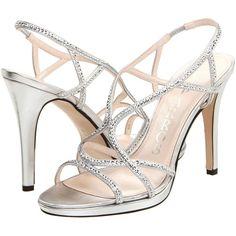 b0265bfc195 Caparros Zarielle Silver Metallic Sequin Strappy Sandals featuring an Light  Platform Sole and Slim Heel Size - 8 Toe to Heel Width B Heel Platform S