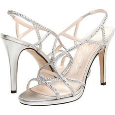 Caparros Zarielle Women's Dress Sandals, Silver ($21) ❤ liked on Polyvore featuring shoes, sandals, heels, wedding, silver, high heel sandals, heeled sandals, strap sandals, platform heel sandals and silver dress sandals