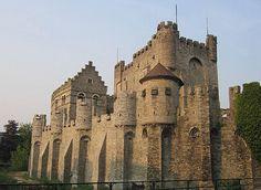 """El Gravensteen (""""Castillo de la Cuenta""""), Sint-Veerleplein, Gent, Bélgica"""