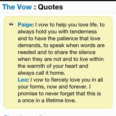From The Movie Vow Love