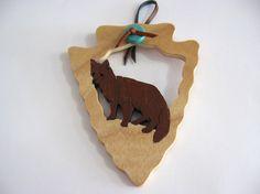 Fox Arrowhead Ornament