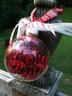 Family Memories Ball- I love this.  You could even do one for each child and save them for when they're married.