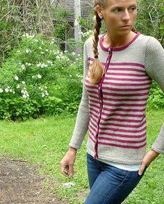 Ravelry: Outback pattern by Amy Miller 5 ply This pattern is available for $6.00 USD  buy it now    Outback is a fun-to-knit easy to wear cardigan – stripes keep the knitting fast and top-down construction ensures a perfect fit!