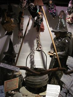 Photograph of the interior of the Museum of Witchcraft at Boscastle