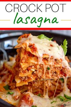 Crockpot Lasagna from Southern Plate Crock Pot Slow Cooker, Slow Cooker Recipes, Crockpot Recipes, Cooking Recipes, Lasagna Recipes, Crockpot Dishes, Weeknight Recipes, Pasta Recipes, Dinner Recipes