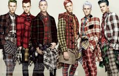 boys with tartan, hm...