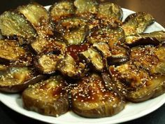 roasted eggplant with soy sauce Soup Recipes, Vegetarian Recipes, Healthy Recipes, Salsa, Eggplant Recipes, Vegan Foods, My Favorite Food, Vegetable Recipes, Food And Drink