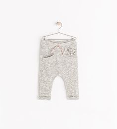 Heather gray harem pants WITH KITTY! Does it get any better than this?