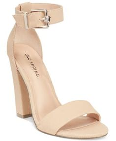 Call It Spring Arther Two-Piece Block-Heel Sandals $30.00 Two-piece styling wows in the sky-high block heel and ankle strap design of Call It Spring's Arther dress sandals.