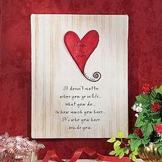 Unframed Heart Wedding Canvas - 18x24; personalcreations.com