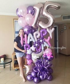 trend in balloon ornaments for 15 years - Youngi Sites Kids Party Themes, Birthday Party Decorations, Birthday Parties, Party Ideas, Balloon Columns, Balloon Garland, Balloon Centerpieces, Balloon Decorations, Balloon Bouquet Delivery
