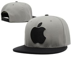 Apple Snapback Hats Gray Black|only US$6.00 - follow me to pick up couopons.
