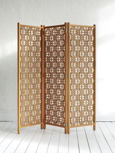 Wooden Geometric Screen Natural by The Family Love Tree Rattan Furniture, Furniture Decor, Furniture Design, Exterior Design, Interior And Exterior, Geometric Trees, Screen Design, Home Lighting, Design Crafts