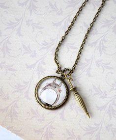 Totoro & Umbrella necklace: I want this!!!!
